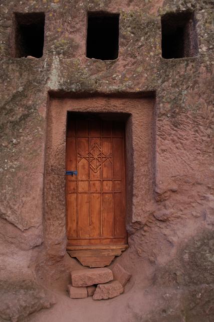 Felsentür in Lalibela
