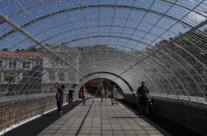 Vorbereitungen zum Lichterfest in Bilbao
