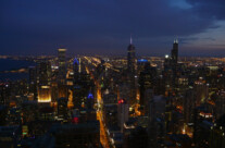 Chicago city lights
