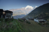 Dorf im Annapurna Gebiet