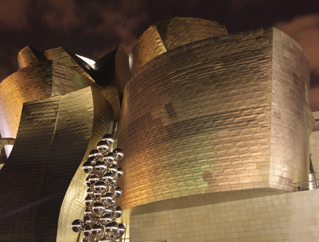 Guggenheim Museum at night