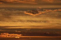 oranger Himmel