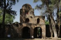 Eingang zur Debre Birhan Selassie Kirche