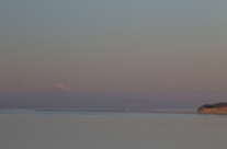 New Dungeness lighthouse and Mount Baker
