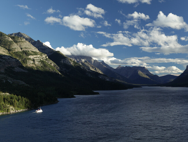 boat on Lake Waterton